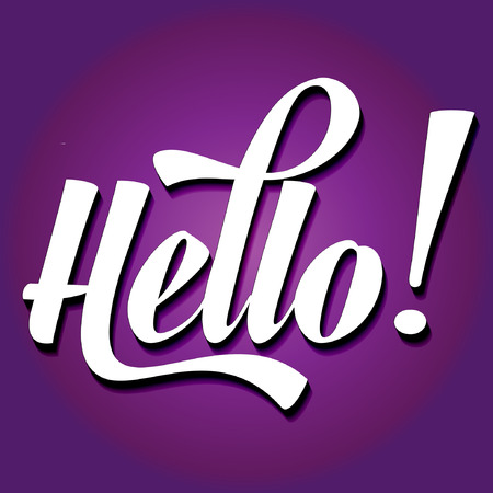 paper cut word HELLO on ultraviolet background, vector format Illustration