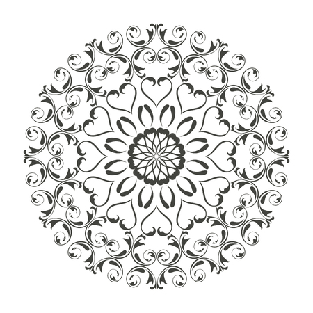 Oriental vector round ornament with arabesques elements. Traditional classic ornament. Vintage pattern with arabesques. Stock fotó - 95589270