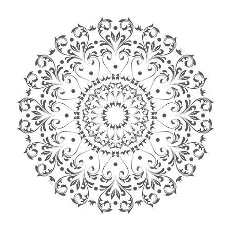 Oriental vector round ornament with arabesques elements. Traditional classic ornament. Vintage pattern with arabesques. Stock fotó - 95589272