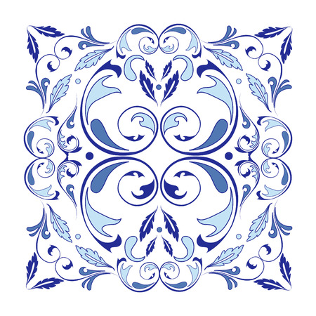 Oriental vector square ornament with arabesques elements. Traditional classic ornament. Vintage pattern with arabesques. Stock fotó - 95589307