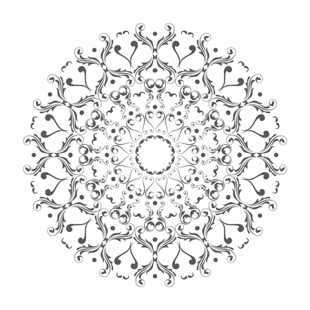 Oriental vector round ornament with arabesques elements. Traditional classic ornament. Vintage pattern with arabesques. Stock fotó - 95589310