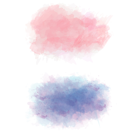 Set of color vector watercolor stains, vector illustration. Illustration