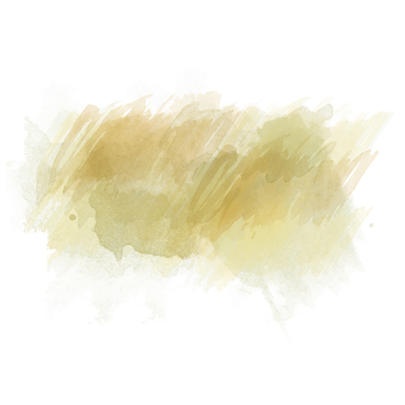 Green and orange watercolor painted stain isolated on white background, vector eps 10