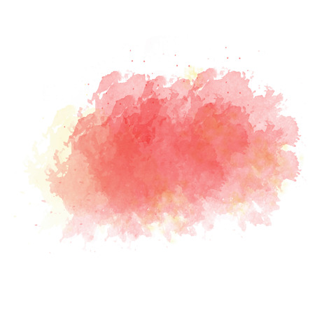 Pink  and yellow watercolor painted stain isolated on white background, vector eps 10 Foto de archivo - 99732302