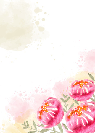 Beautiful hand painted floral background in watercolor style, vector format Ilustração