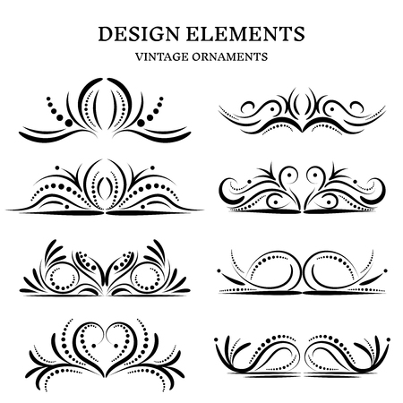vintage design ornaments set, vector format 向量圖像