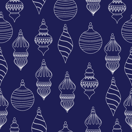 Christmas seamless pattern with Christms balls. Christmas background. Christmas wrapping paper. Vector