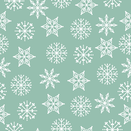 Christmas seamless pattern. Christmas background. Christmas wrapping paper. Flat design. Vector Illustration