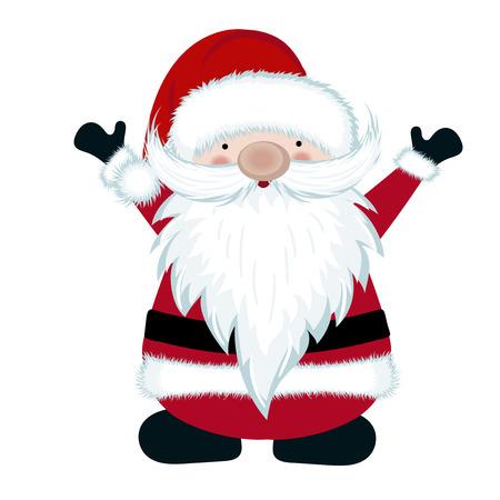 Santa isolated on white background