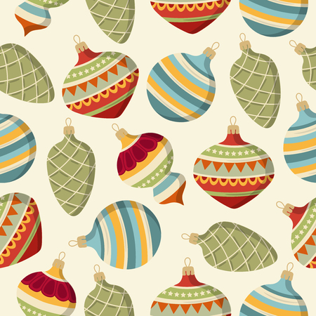 seamless pattern with Christmas balls. Christmas background. Christmas wrapping. Paper. Vector