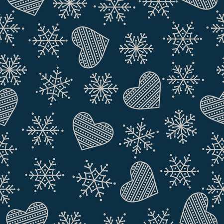 Christmas seamless pattern. Christmas background. Christmas wrapping paper. Flat design. Vector 向量圖像