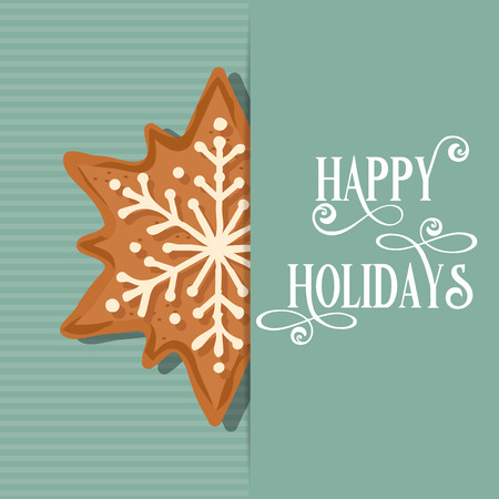 Sweet Christmas card with gingerbread star