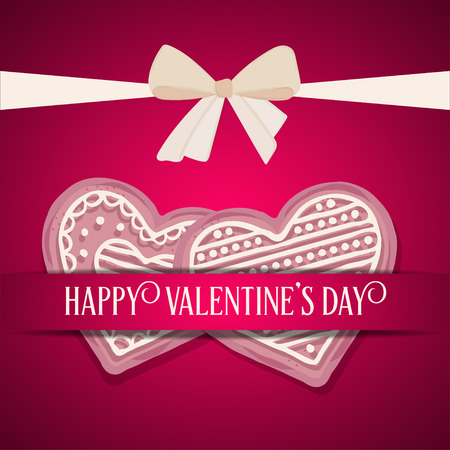 Sweet Valentine's day card Stock Vector - 121667205