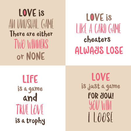 Romantic love quote collection. Love card