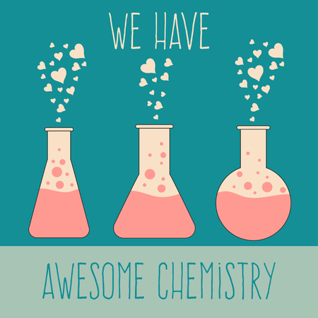 We have awesome chemistry, love quote for Valentines day card