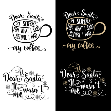 Funny Christmas quotes collection . Christmas poster, banner, Christmas card