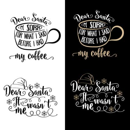Funny Christmas quotes collection . Christmas poster, banner, Christmas card