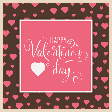 Cute Valentine's day card. Flat design Stock Vector - 118904782