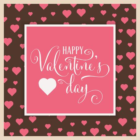 Cute Valentines day card. Flat design