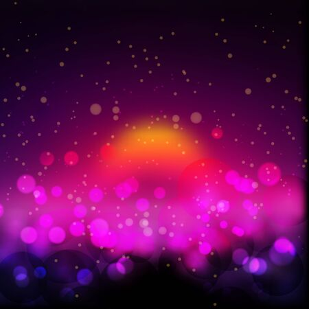 Amazing bokeh abstract background. Vector format