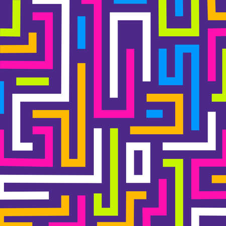 Colorful maze background. Vector format Imagens - 150798594