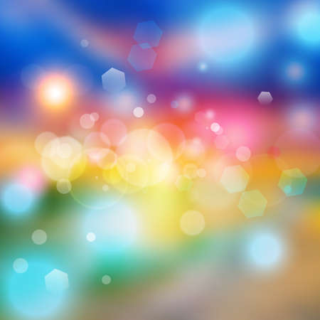 Bokeh lights effect on colorful gradient  background. Vector format Imagens - 151138065