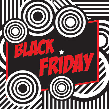 Black friday banner  Retro style. Vector Imagens - 156905569
