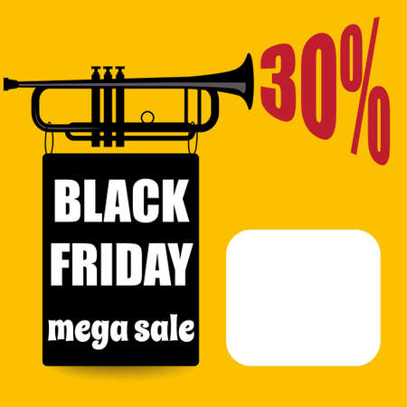 Black friday banner  Retro style. Vector Imagens - 156905581