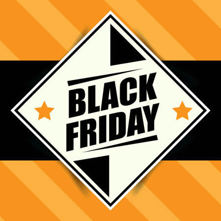 Black friday banner  Retro style. Vector Imagens - 156905584