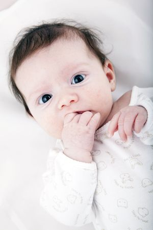 Baby, two months old. Small sweet baby.