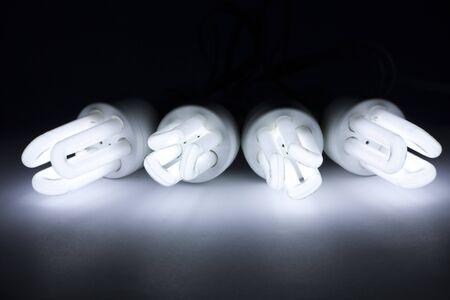 environment friendly: Environment friendly compact fluorescent light bulbs Stock Photo