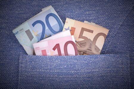 New blue sports shirt & money photo