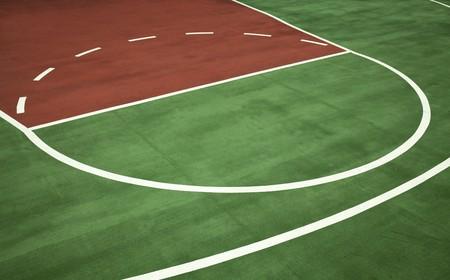 outside basketball court