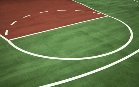low floor: outside basketball court