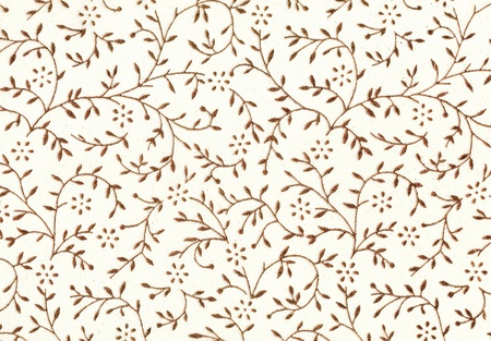 Vintage wallpaper background with gold flowers
