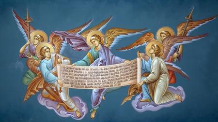 Frescoes in the Monastery of St. Theodora in Thessaloniki. Greece Stock Photo - 8662051