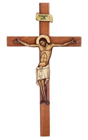 kruzifix: hölzernes Kreuz mit Christus Lizenzfreie Bilder