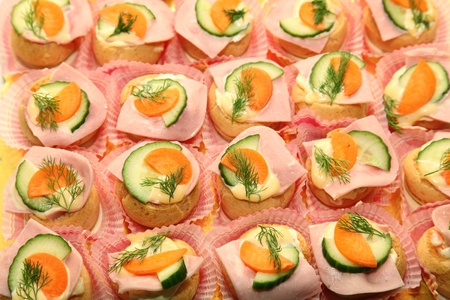 Canapes food Stock Photo