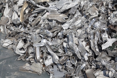 Pieces of aluminum for recycling