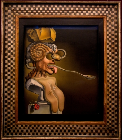 FIGUERAS - APRIL 13: Details from Dali Museum, opened on September 28, 1974 and housing the largest collection of works by Salvador Dali