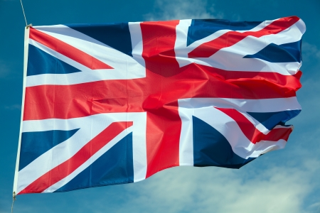 Great Britain flag against blue sky Stock Photo - 13685998