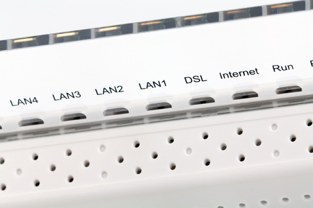 Front side of the wireless router photo