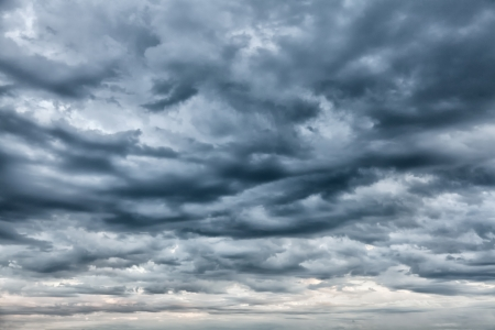 Rainy cloudy sky before the storm