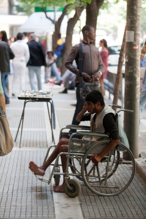 beggar's: THESSALONIKI, GREECE - JUNE 28: The number of beggars in the city has increased dramatically. The economic crisis has hit the elderly on June 28, 2011 in Thessaloniki, Greece