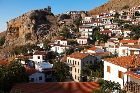 Village of 'Chora' at Samothrace island in Greece Stock Photo - 16674905