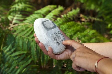 paleolithic: Paleolithic stone mobile phone