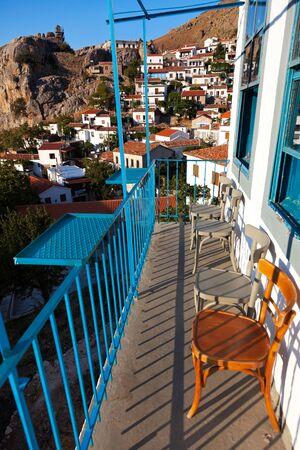 """chora: Village de """"Chora"""" en Samotracia isla en Grecia Foto de archivo"""