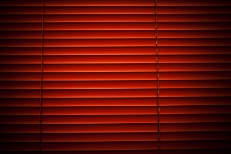 Orange blinds photo