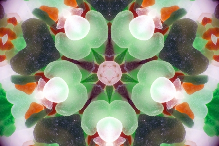 Fractal kaleidoscope background with images forming a star-shaped pattern Stock Photo - 16675001