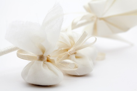 Elegant Wedding Favors decorated with origami birds photo